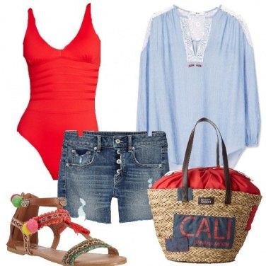 Outfit Iniziamo con un rosso intero