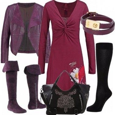 Outfit Adorabile vinaccia