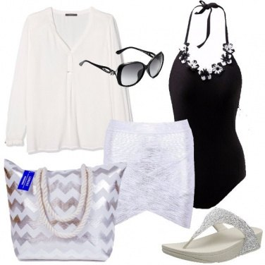Outfit Silver in spiaggia