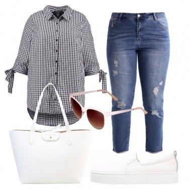 Outfit Quadretto Vichy nel tempo libero