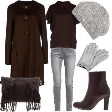 Outfit Gray & brown