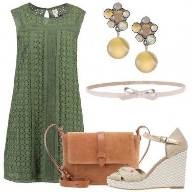 Outfit Cotone e pelle