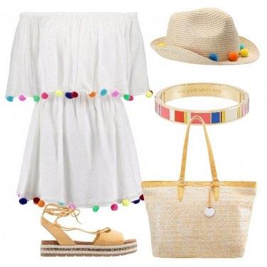 Outfit Simpatica con i pon pon