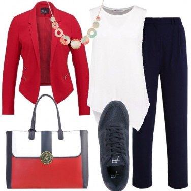 Outfit Rosso e blu