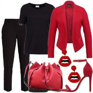 Outfit Solo rosso e nero