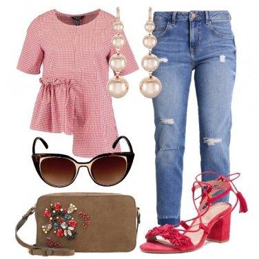 Outfit Vichy asimmetrico