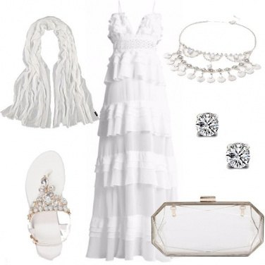 Outfit Cena in bianco