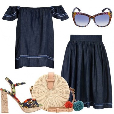 Outfit Romantica in denim