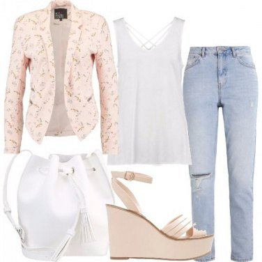 Outfit La zeppa rosa