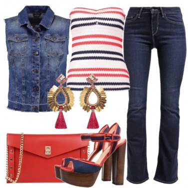 Outfit Smanicato in jeans