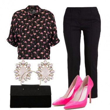 Outfit Una serata coi fenicotteri
