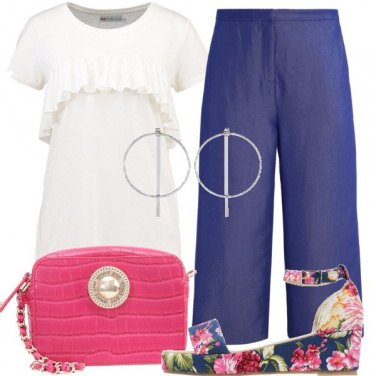 Outfit Una zeppa a fantasia floreale