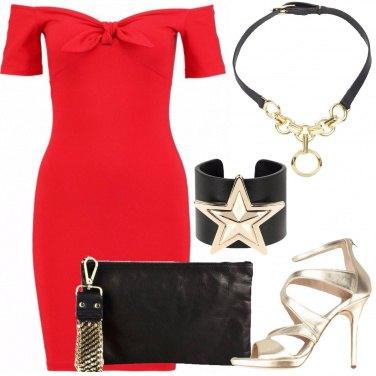 Outfit Rosso nero e oro