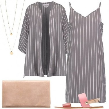 Outfit Minimale a righe