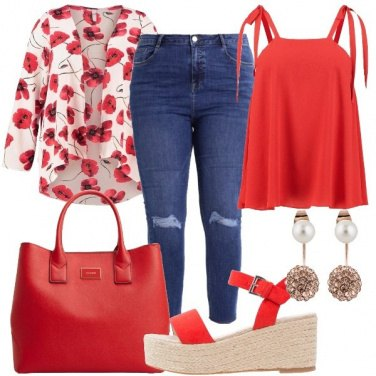 Outfit Rosso papavero