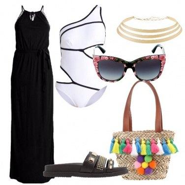 Outfit Al mare con i pompon