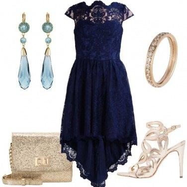 Outfit L\' oro con il blu