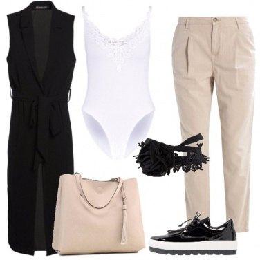Outfit Gilet e collarino