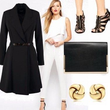 Outfit Bianco nero e oro : è subito party