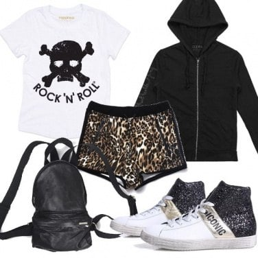 Outfit Shorts leopardati