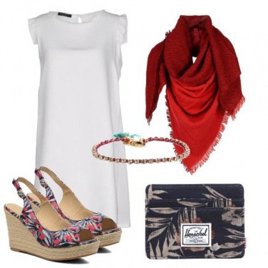 Outfit Rosso sul bianco
