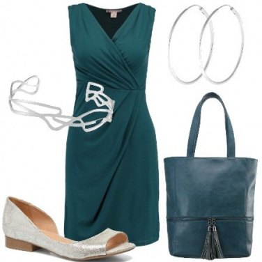 Outfit Verde petrolio