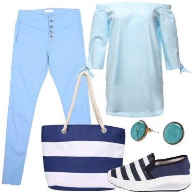 Outfit Dipinta di blu