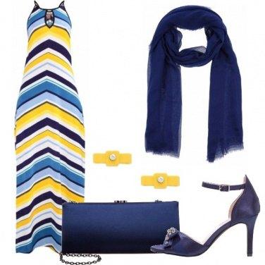 Outfit Colore sull\'abito lungo