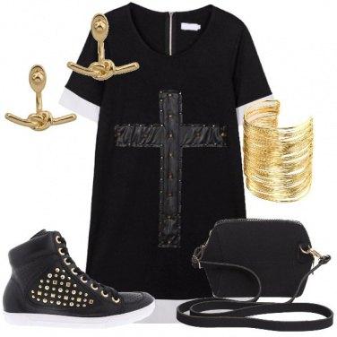 Outfit Rock spendendo poco