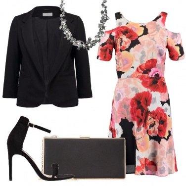 Outfit Fiori rossi