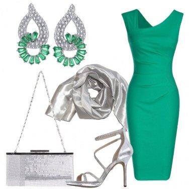 Outfit Verde e silver