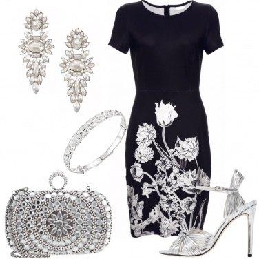 Outfit Nero, bianco e argento
