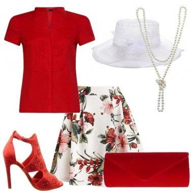 Outfit Rosso per una cerimonia