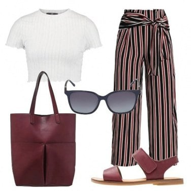 Outfit Il pantalone a righe