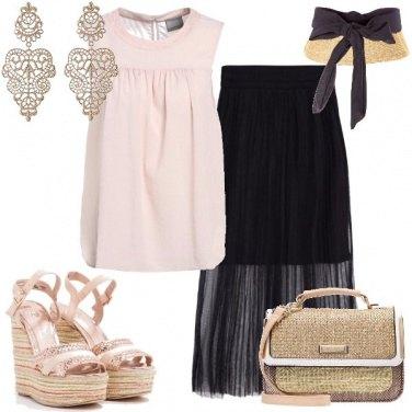 Outfit I sandali con la zeppa