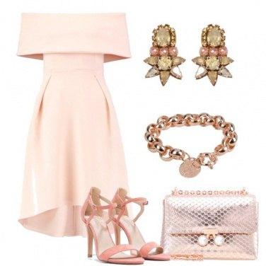 Outfit Cerimonia rosa