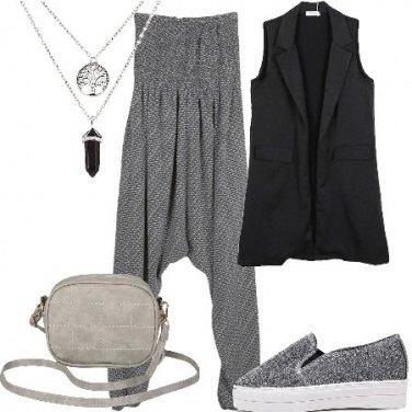 Outfit Jumpsuit e gilet