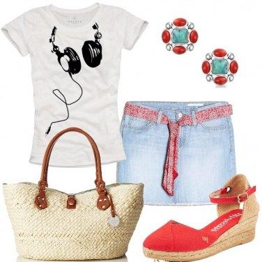 Outfit La minigonna di jeans