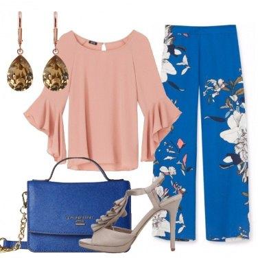 Outfit Il pantalone palazzo floreale