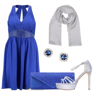 Outfit Blu royal ed argento