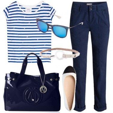 Outfit Semplicità a righe