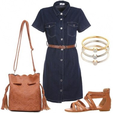 Outfit Jeans e cuoio