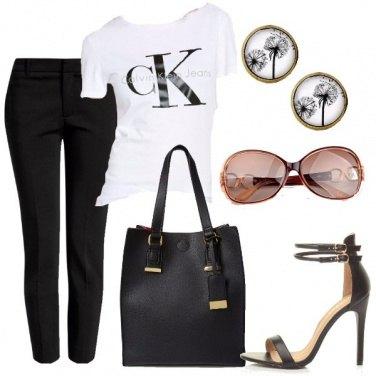 Outfit Giornata in bianco e nero