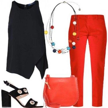 Outfit Un po\' rosso e un po\' nero
