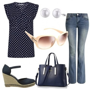 Outfit Con i jeans a zampa