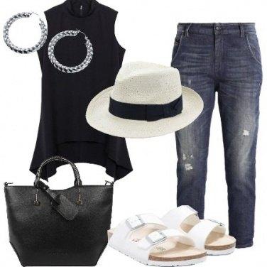Outfit Minimal con il cappello