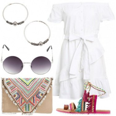 Outfit Bianco colorato