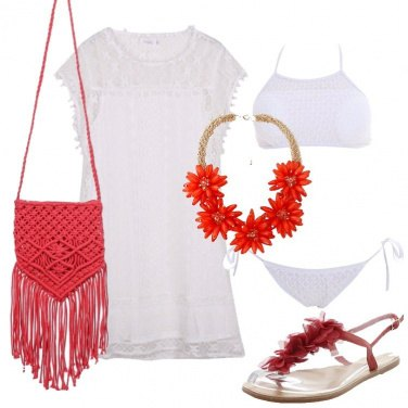 Outfit In bianco e rosso