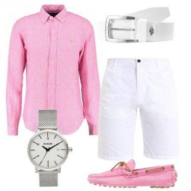 Outfit Freschezza in rosa