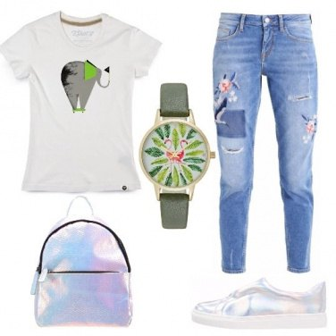 Outfit Jeans e t-shirt